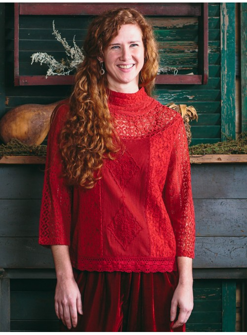 Maribelle Blouse in Crimson| Aprill Cornell