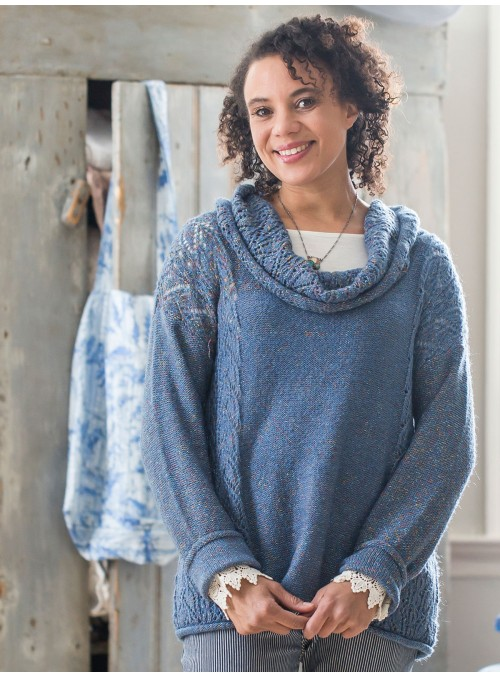 Chai Sweater in Soft Indigo by Aprill Cornell