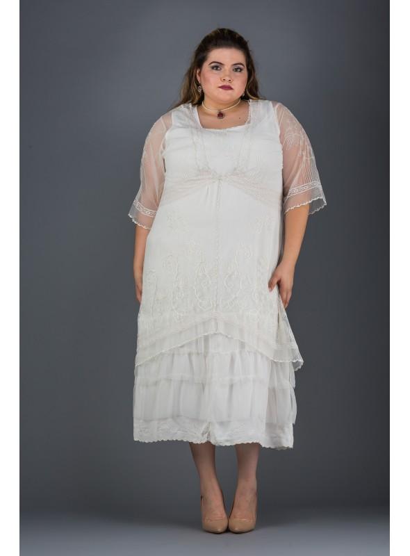 Plus SIze Titanic Dress in Ivory by Nataya